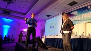 שר החינוך שי פירון ומנהלת מחט טבריה הדסה קובי